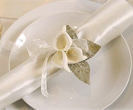 Petits Arum sur Tige Decoration mariage Blanc