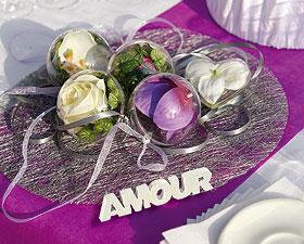 Lettres Amour Pailleté Déco de Table Blanc