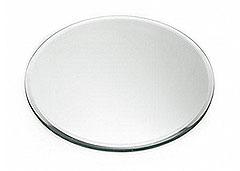 Assiette Dessous de Bougie Rond Miroir 10cm Transparent