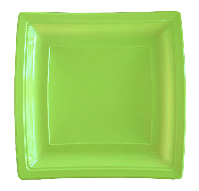 Assiette Jetable mariage vert anis
