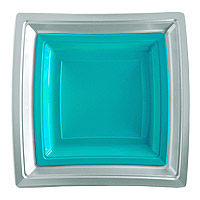 Assiettes Jetables Plastiques Gris Turquoise