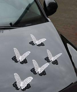 Papillons décoration voiture mariage