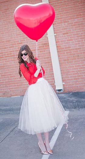 Ballons Coeurs Géants 45cm Mariage Rouge