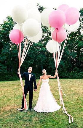 Mariés avec ballons géant 1m