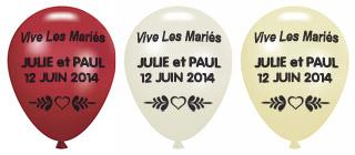 Ballons Nacrés Personnalisés Prenoms Mariage