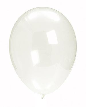 10 ballons cristal transparent