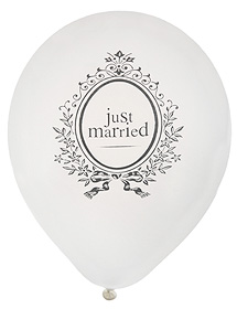 Ballons Just married Blason
