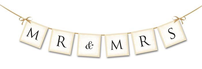 Bannière Fannions MR and MRS Mariage