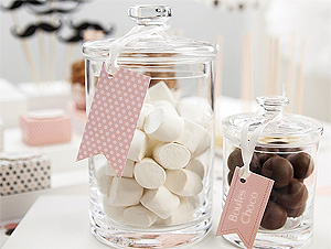Bocaux avec étiquettes candy bar sweet