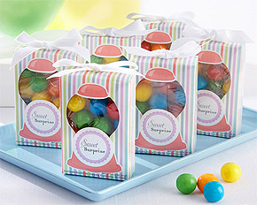 Petite Boite Cadeau Invité Boules Chewing Gum