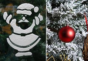 Décoration Noël Neige Fenêtres & Sapin