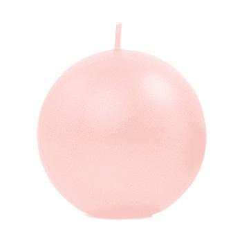 Bougie Ronde Sphère Boule 6cm rose