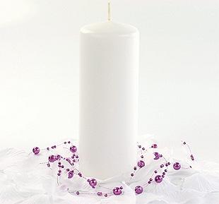 Bougie Cylindrique 15cm pas cher Blanc