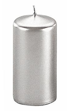 Bougie Cylindrique Argentée pas cher