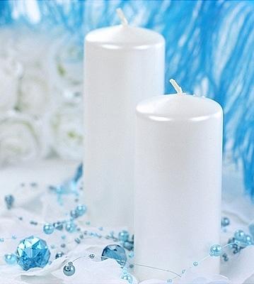 la bougie cylindrique 15cm nacr e luxe bougies d coratives. Black Bedroom Furniture Sets. Home Design Ideas