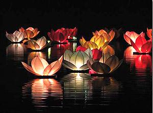Lanternes Flottantes Lotus Thai pas cher