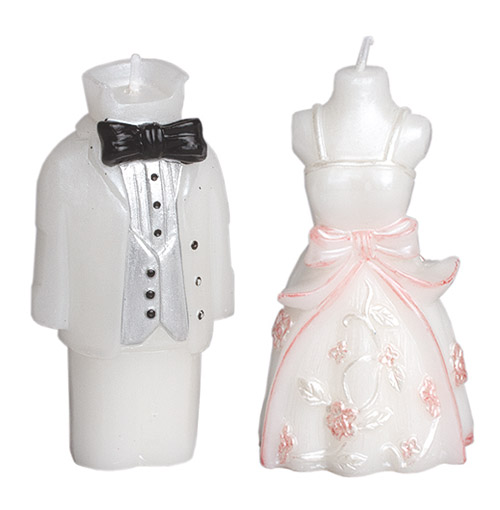 Bougie figurine des mari s mariage bougies mariage for Bougies personnalises pour mariage
