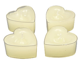 Bougies coeur ivoire