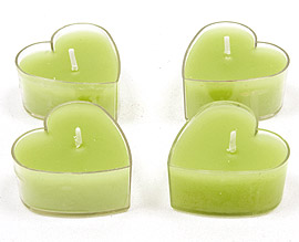 Bougies Chauffe Plat Coeur Vert Anis