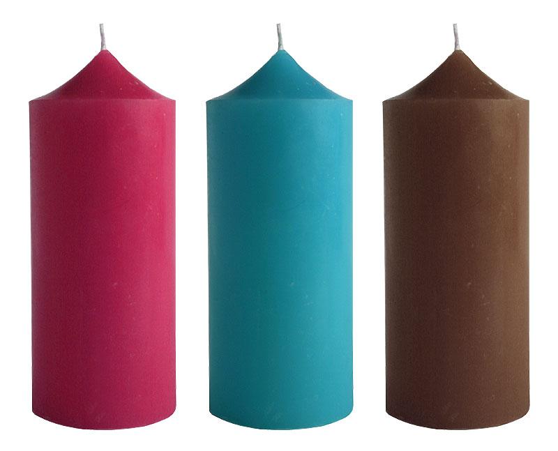 La Bougie Cylindrique Géante Couleur Unie 15cm | Bougies Décoratives