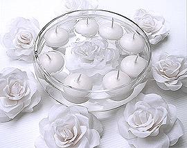 Bougies Flottantes Mariage pas cher Blanc