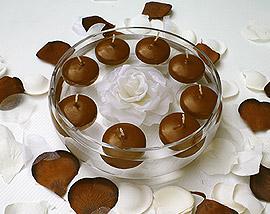 Bougies Flottantes Mariage pas cher Chocolat