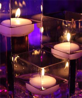 Bougies Flottantes Mariage dans un Vase