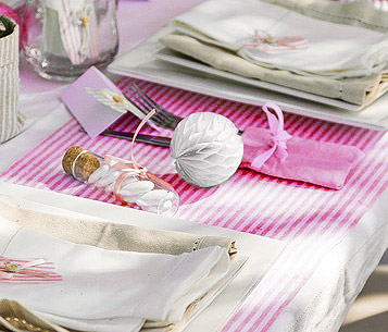 Boule papier deco de table