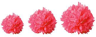 Boules Crépon Décoration Fuchsia
