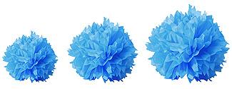 Boules Crépon Décoration Turquoise