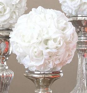 boule fleurs artificielles roses mariage pompons mariage. Black Bedroom Furniture Sets. Home Design Ideas