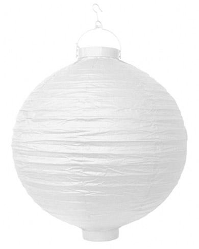 Boule lampion papier lumineuse blanche