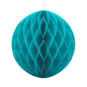 Boule Papier Alvéolée 20cm Turquoise