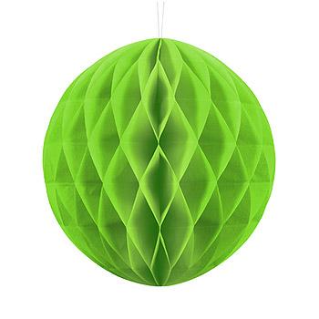 Boule Papier Alvéolée 20cm Vert Anis