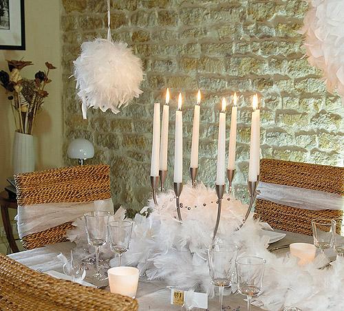 la boule plumes taille moyenne d coration de table bapteme. Black Bedroom Furniture Sets. Home Design Ideas