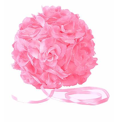 Boule Roses Artificielles Mariage Rose