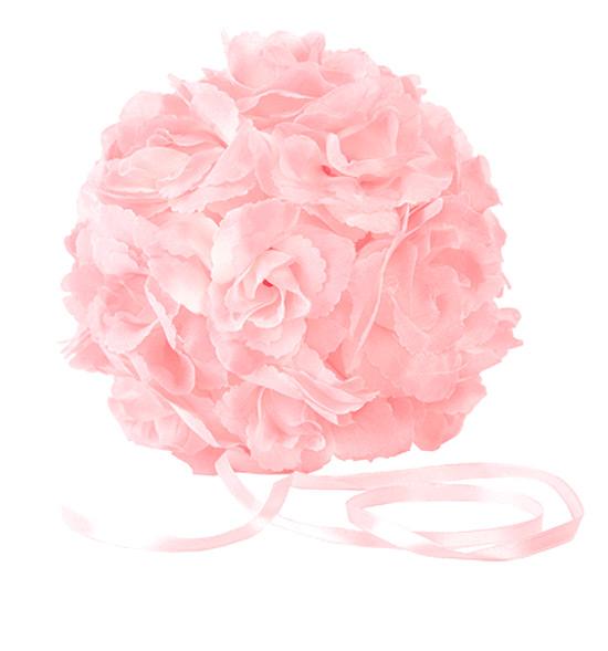 boule fleurs artificielles roses mariage | pompons mariage