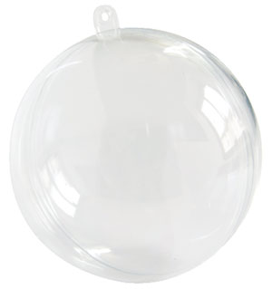 Boule Géante Pvc Transparent Décoration 16 cm Transparent