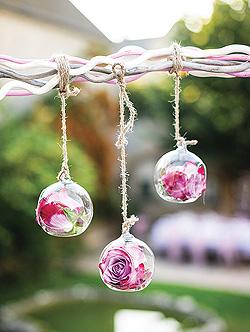 Boule en verre contenant à poser ou suspendre