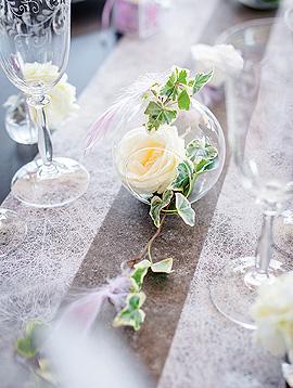 Boule en Verre décoration florale