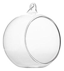 Boule Sphère Verre Ouverte à Suspendre
