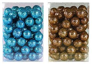 Petites Boules Pailletées Flottantes Déco Table Turquoise Chocolat