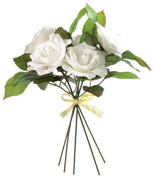 Le bouquet roses artificielles tiges a riennes d coration de table mariage - Fleur artificielle mariage ...