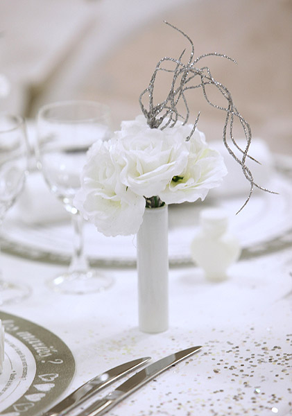 mini vase eprouvette tube essai blanc d coration de table mariage. Black Bedroom Furniture Sets. Home Design Ideas