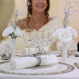 Bouquet roses blanches artificielles
