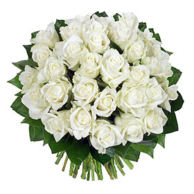 Bouquet 31 Roses Blanches Mariage