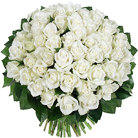 Bouquet 51 Roses Blanches Mariage XXL