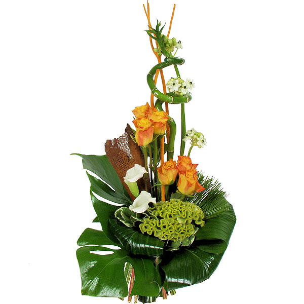Composition florale centre de table mariage bouquets - Composition florale table mariage ...