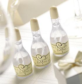 Mini Bouteille Champagne Bulle de Savon Mariage