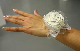 Bracelet Organza Rose Pailletée